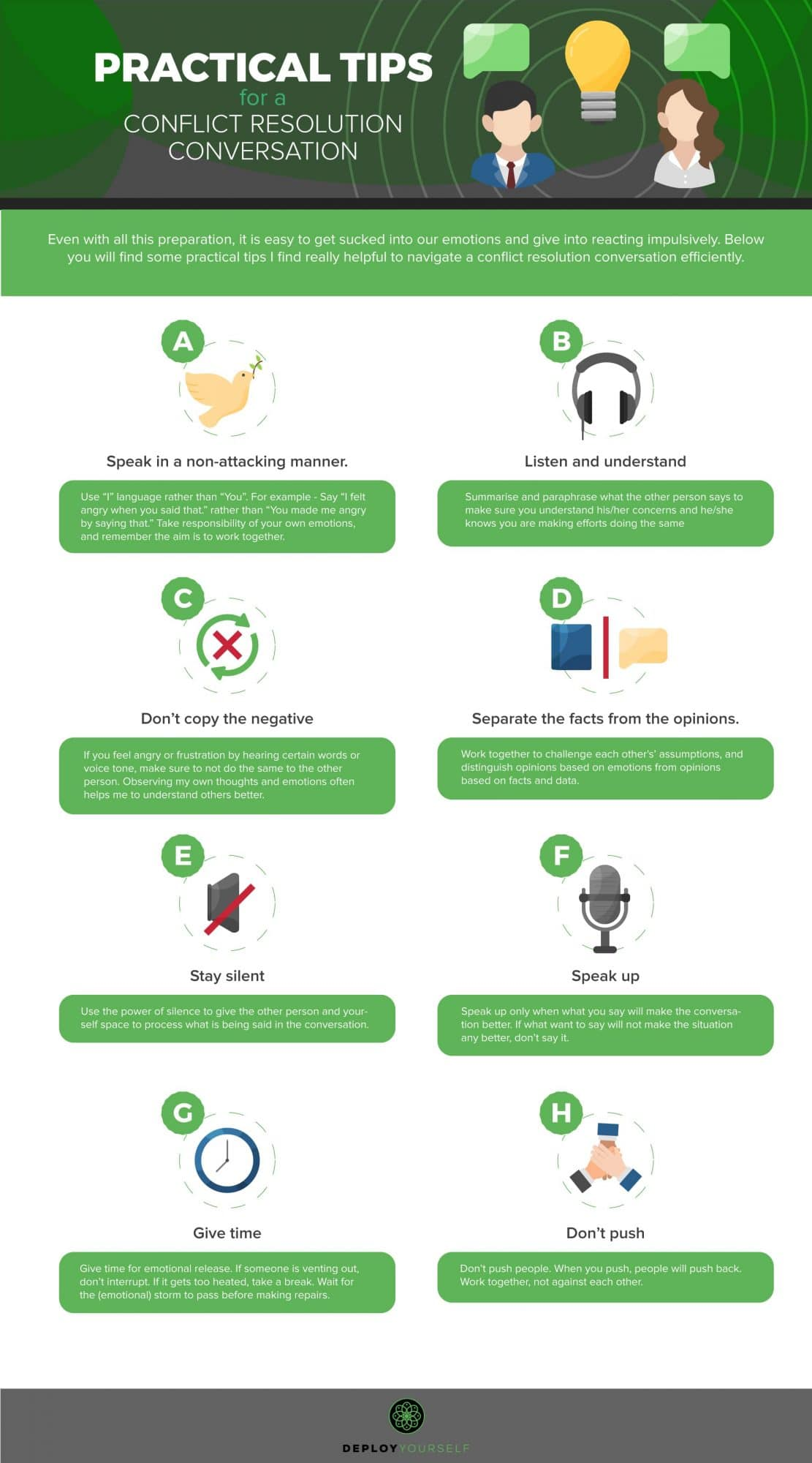 Infographic - Tips For Making A Conflict Resolution Conversation More Effective
