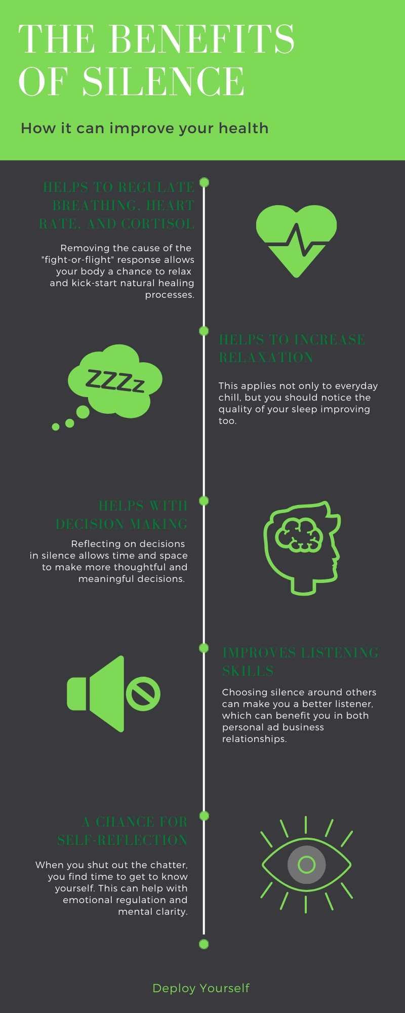 benefits of silence infographic