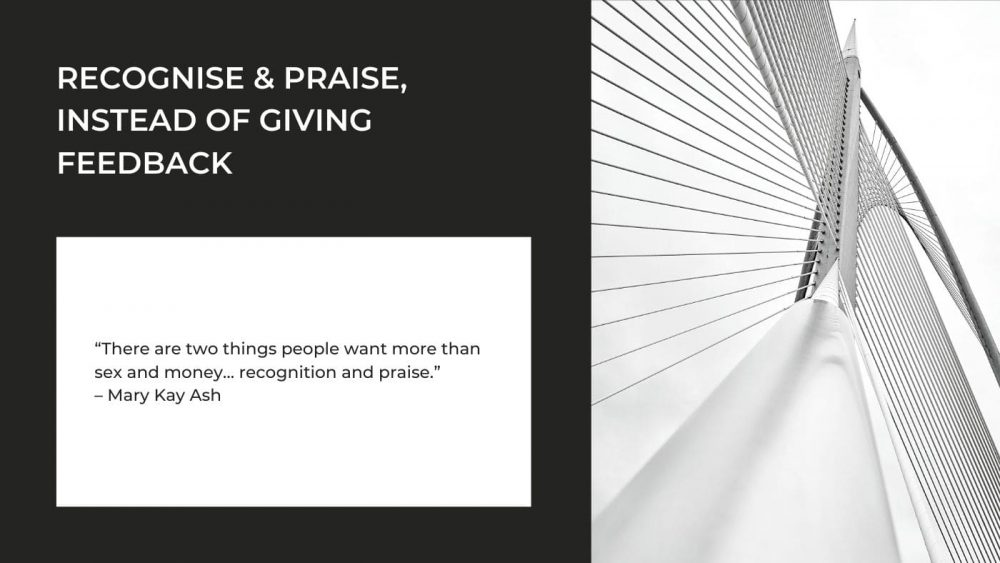 Praise More Than Criticise